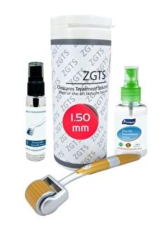 Zgts Dermaroller 1.50 mm Titanyum 192 İğneli Orijinal Gold Derma Roller Saç Yüz Vücut